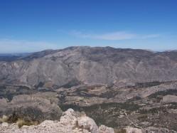 Sierra de Aitana desde el Puig Campana